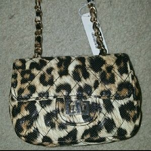 Brand new leopard cross body bag